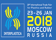 2018 Interplastica will take place from 23 to 26 January 2018 in Moscow